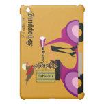 Oro de la cubierta del iPad de la mujer de la vesp