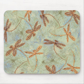 Oro de la danza de la libélula alfombrilla de ratones