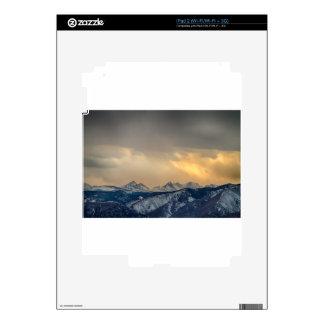 Oro de la divisoria continental de la montaña iPad 2 skin