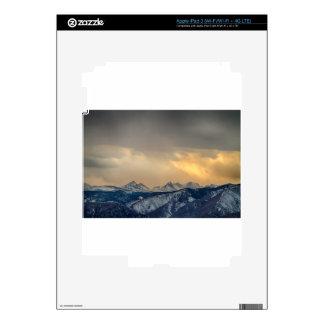Oro de la divisoria continental de la montaña iPad 3 pegatina skin