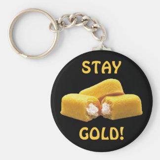¡Oro de la estancia! - Snacks Llavero Redondo Tipo Pin