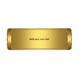 Oro de la etiqueta autoadhesiva etiqueta de remitente