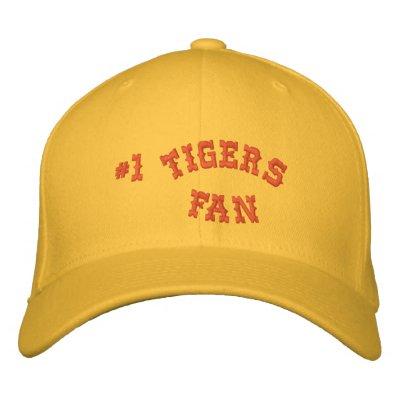 Oro de la fan #1 y lanas básicas anaranjadas de Fl Gorra De Beisbol Bordada