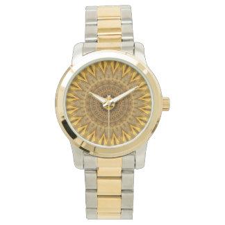 oro de la fe de la mandala creado por Tutti Relojes