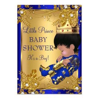 """Oro de la fiesta de bienvenida al bebé de príncipe invitación 4.5"""" x 6.25"""""""