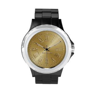 Oro de la firma reloj