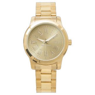 Oro de la firma relojes de mano