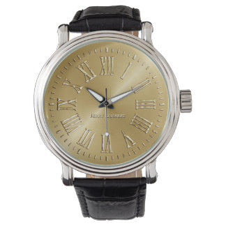 Oro de la firma relojes de pulsera