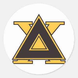 Oro de la insignia de la ji del delta etiquetas