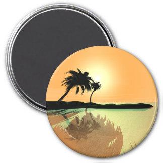 Oro de la isla imán redondo 7 cm