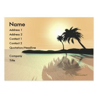 Oro de la isla - rechoncho tarjetas de visita grandes