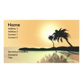 Oro de la isla - tamaño del negocio plantilla de tarjeta de visita