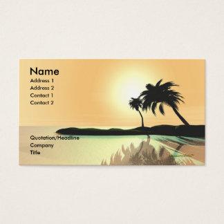 Oro de la isla - tamaño del negocio tarjetas de visita