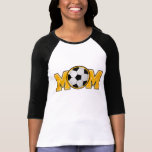 Oro de la mamá del fútbol camiseta