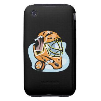 Oro de la máscara del portero iPhone 3 tough coberturas