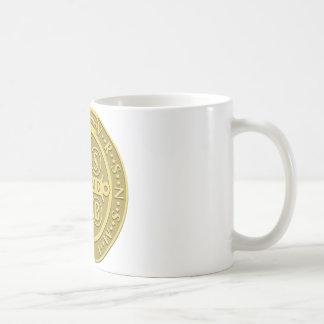 Oro de la medalla de San Benedicto Taza De Café