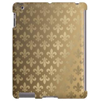 Oro de la obra clásica del DES Lis de Fluer Funda Para iPad