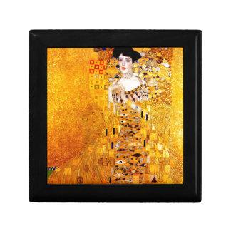 Oro de la pintura de Nouveau del arte de Klimt Ade Caja De Joyas