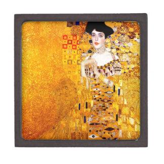 Oro de la pintura de Nouveau del arte de Klimt Ade Cajas De Recuerdo De Calidad