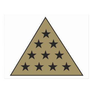 Oro de la pirámide de la sigma pi postales