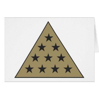 Oro de la pirámide de la sigma pi tarjeta pequeña