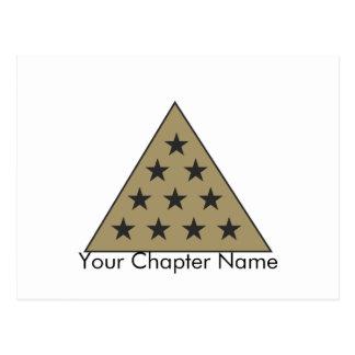 Oro de la pirámide de la sigma pi tarjetas postales