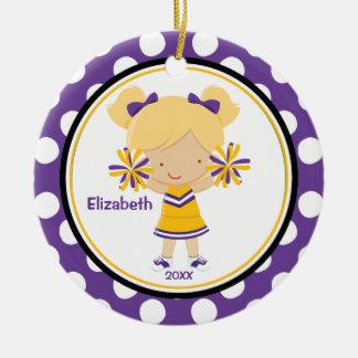 Oro de la púrpura del ornamento del navidad del ch ornaments para arbol de navidad