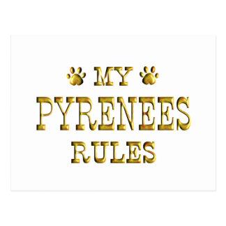 Oro de la regla de los Pirineos Tarjetas Postales