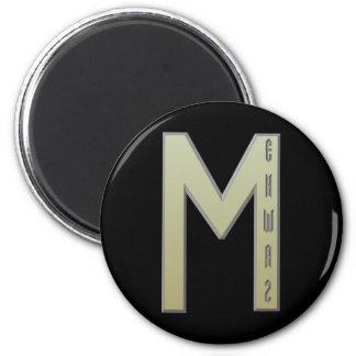 Oro de la runa de Ehwaz Imán Redondo 5 Cm