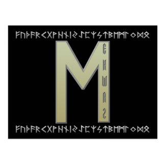 Oro de la runa de Ehwaz Tarjetas Postales