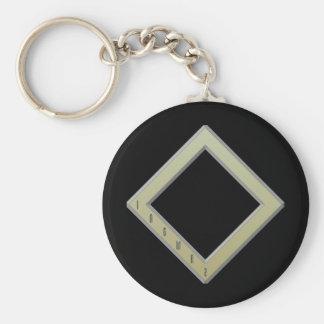 Oro de la runa de Ingwaz Llavero Redondo Tipo Pin