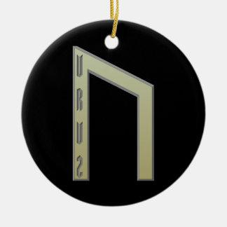 Oro de la runa de Uruz Adornos De Navidad