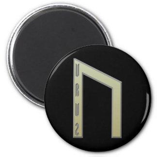 Oro de la runa de Uruz Imán Redondo 5 Cm