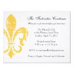 Oro de la tarjeta de información del boda el | New Invitación 10,8 X 13,9 Cm
