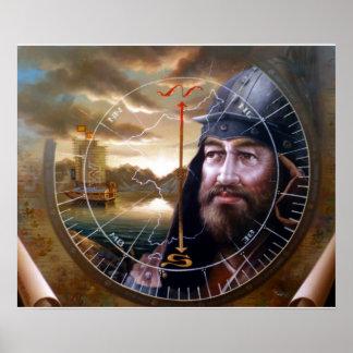 oro de la unificación del mundo o capitán de mar p poster