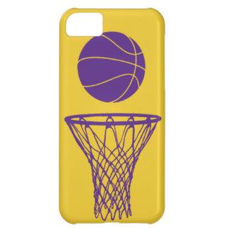 oro de Lakers de la silueta del baloncesto del iPh