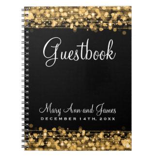 Oro de las chispas del fiesta del Guestbook del bo Cuaderno