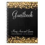 Oro de las chispas del fiesta del Guestbook del bo Libros De Apuntes