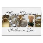 Oro de las Felices Navidad del suegro en Cristo bl Felicitaciones