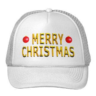 Oro de las Felices Navidad Gorro