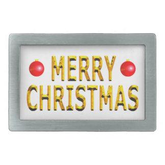 Oro de las Felices Navidad Hebillas Cinturón Rectangulares