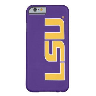 Oro de las letras de LSU y logotipo blanco Funda Para iPhone 6 Barely There