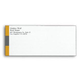 Oro de las propiedades inmobiliarias/sobre gris sobres