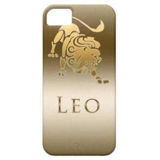 ORO DE LEO DE LA MUESTRA DEL ZODIACO FUNDA PARA iPhone 5 BARELY THERE