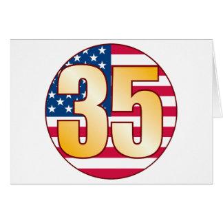 Oro de los 35 E.E.U.U. Tarjeta De Felicitación