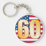 Oro de los 60 E.E.U.U. Llavero Redondo Tipo Pin
