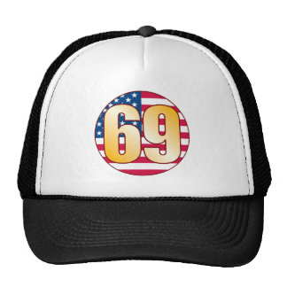 Oro de los 69 E.E.U.U. Gorros