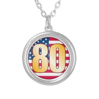 Oro de los 80 E.E.U.U. Colgante Redondo