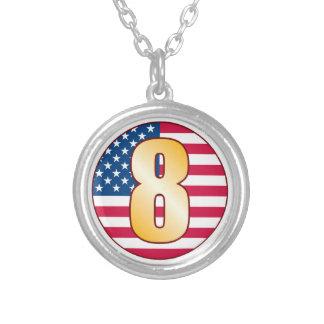 Oro de los 8 E.E.U.U. Colgante Redondo