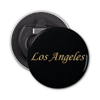 Oro de Los Ángeles - en negro Abrebotellas Redondo